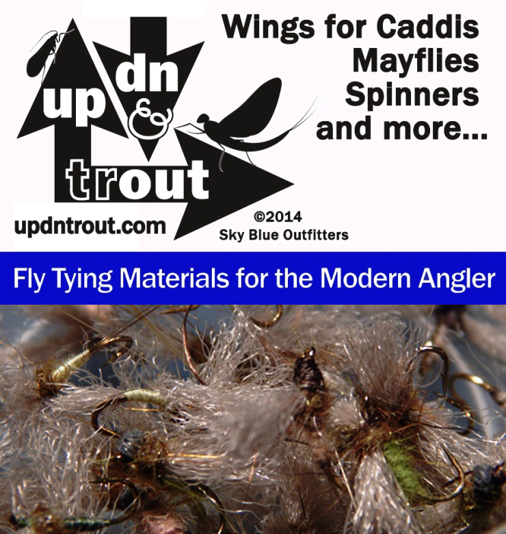 UP DN TROUT Wing Material. Fly Tying Made Easy. Videos and Photos.