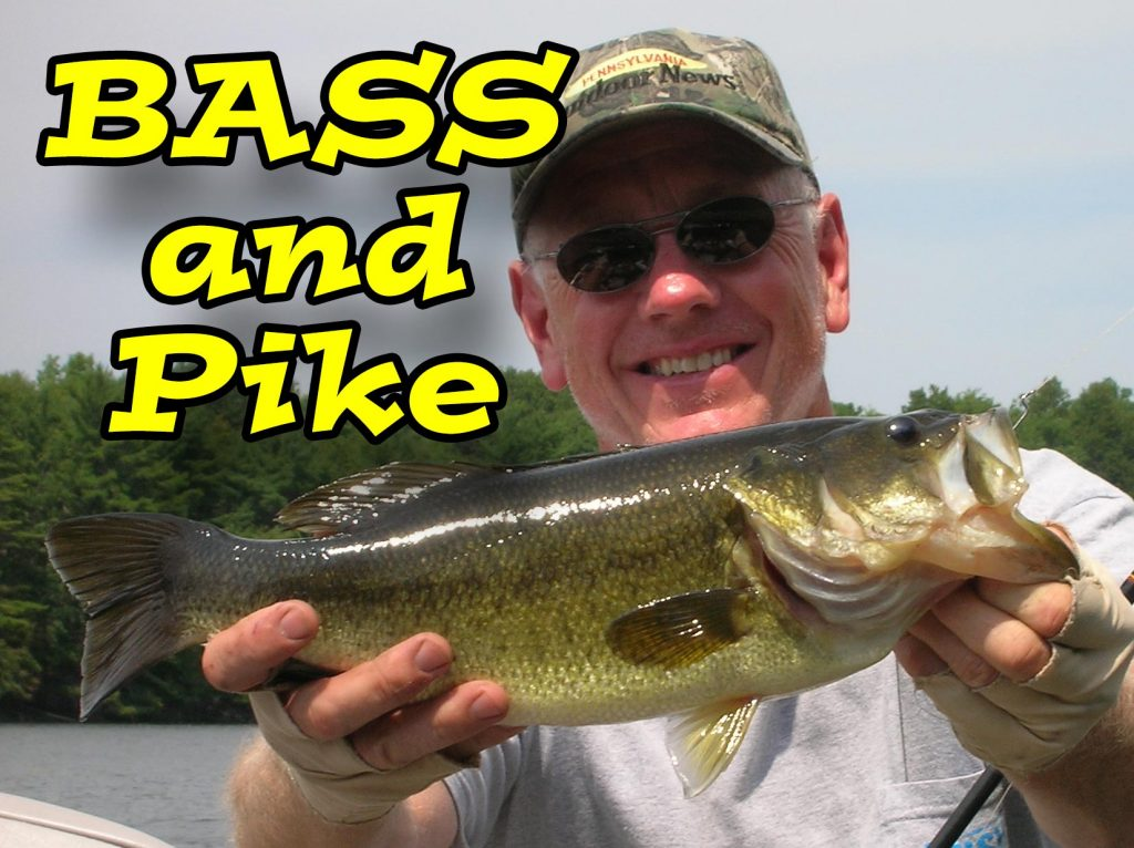Largemouth Bass And Pike Fishing In Pennsylvania. We Offer Trips To Catch Bass And Pike On A Fly Rod On One Of The Many Lakes In Central PA.