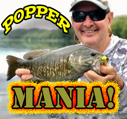 Two Days Of Smallmouth Crushing Your Popper.  Come Enjoy Some Of The Best Top Water Fishing The State Has To Offer.